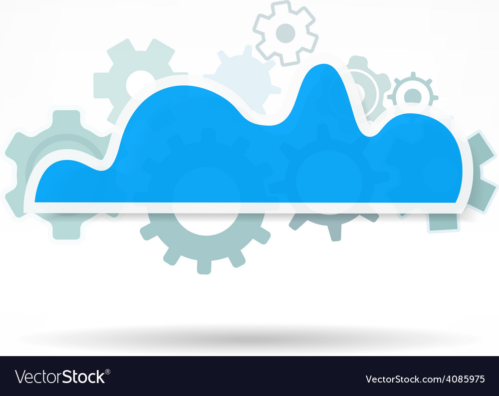 Cloud service icon network technology in progress vector | Price: 1 Credit (USD $1)