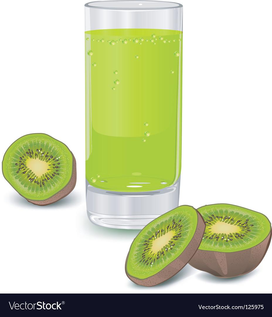 Kiwi fruit juice vector | Price: 1 Credit (USD $1)