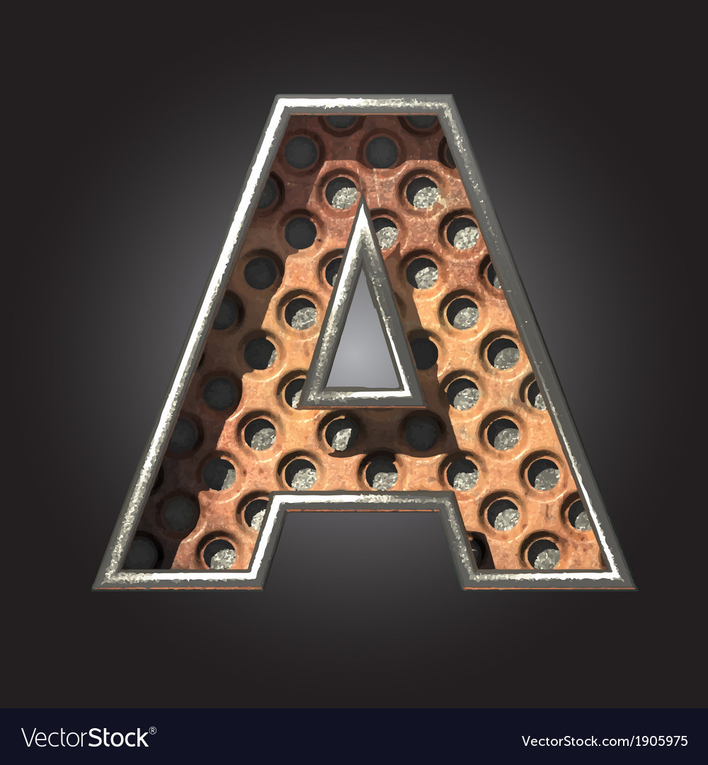 Old metal letter a vector | Price: 1 Credit (USD $1)