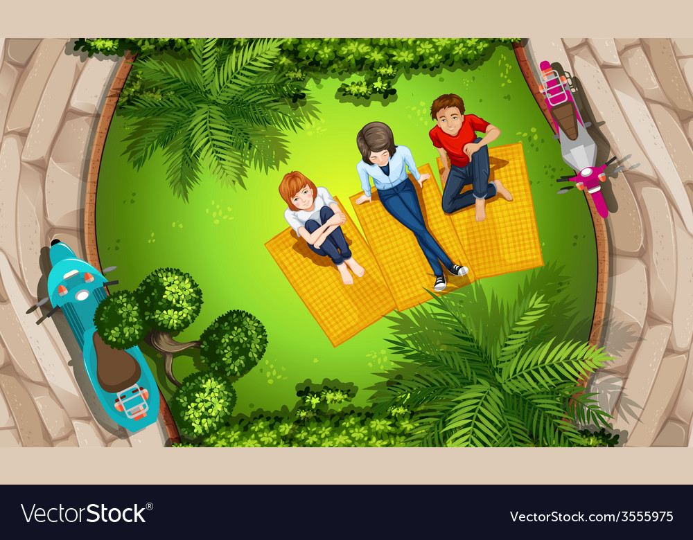 People and park vector | Price: 3 Credit (USD $3)