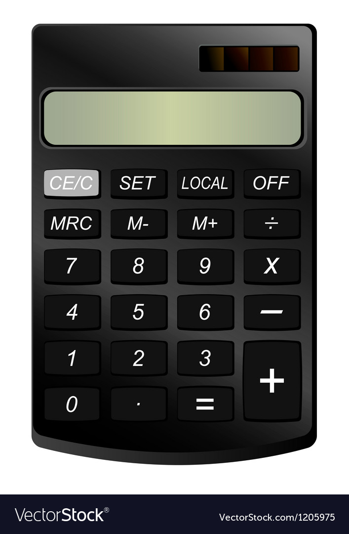 Realistic calculator vector | Price: 1 Credit (USD $1)