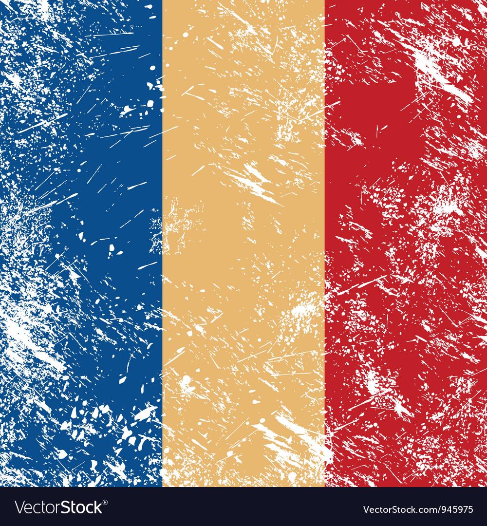 Romania retro flag vector | Price: 1 Credit (USD $1)