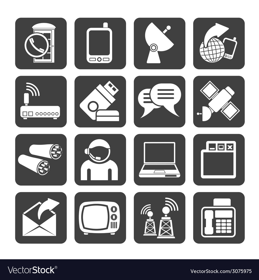 Silhouette communicationand technology vector | Price: 1 Credit (USD $1)