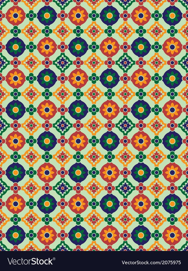 Spanish mosaic vector | Price: 1 Credit (USD $1)