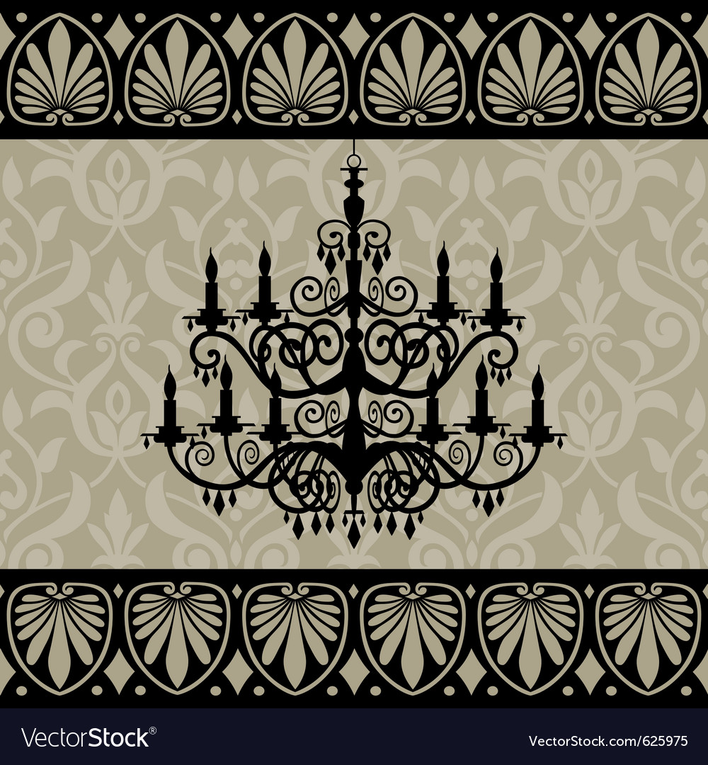 Vintage chandelier vector | Price: 1 Credit (USD $1)