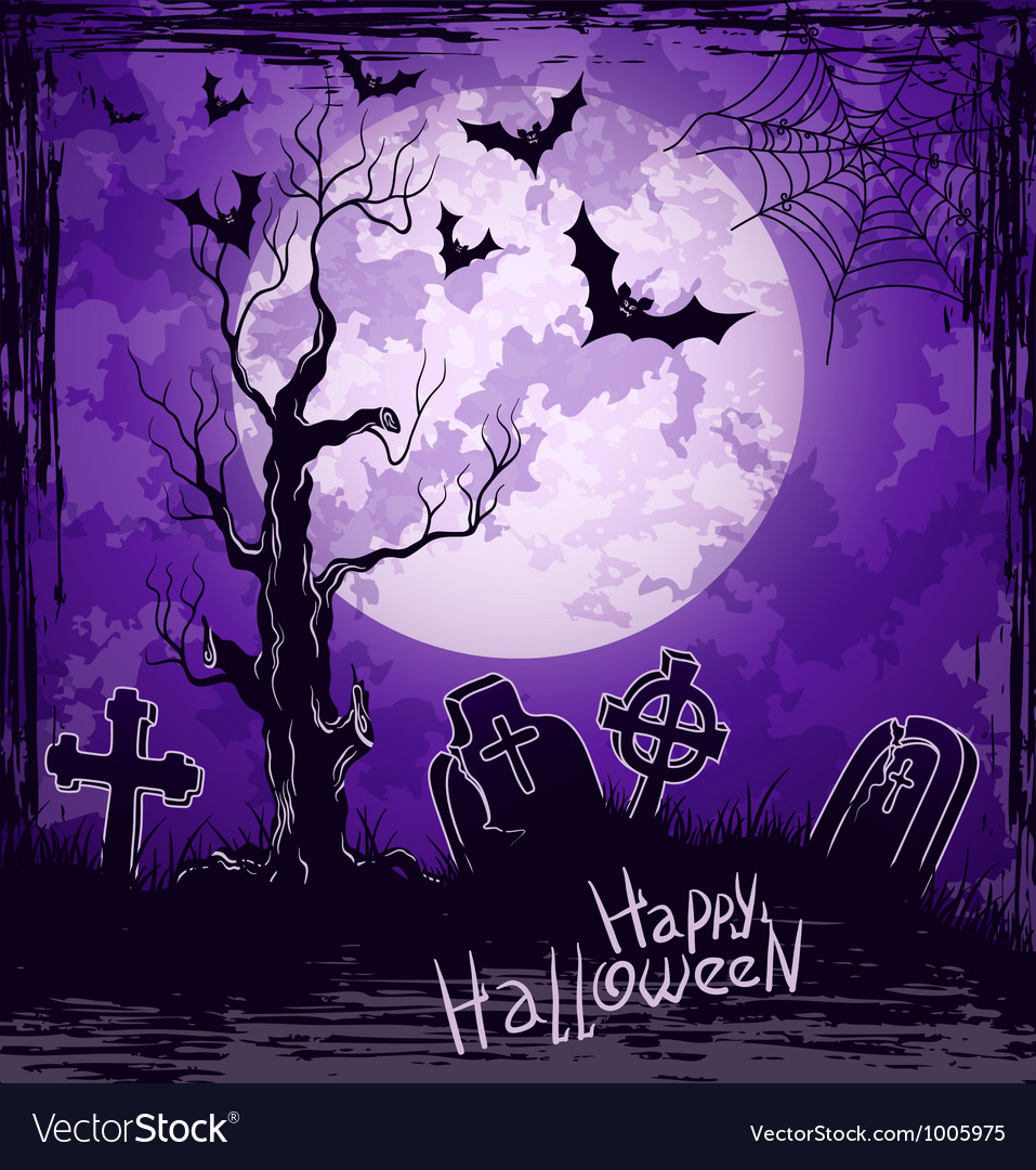 Violet grungy halloween background vector | Price: 1 Credit (USD $1)
