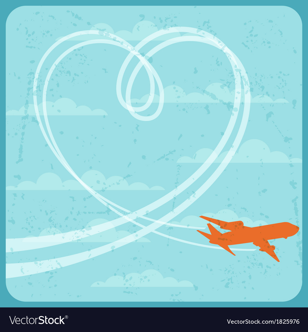Airplane flying in the sky vector | Price: 1 Credit (USD $1)