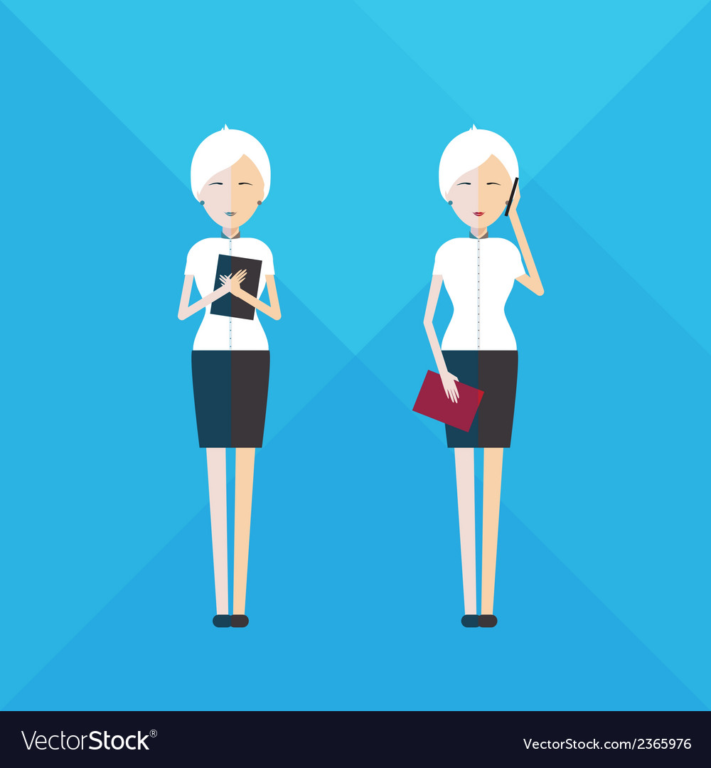 Businesswoman full length vector | Price: 1 Credit (USD $1)
