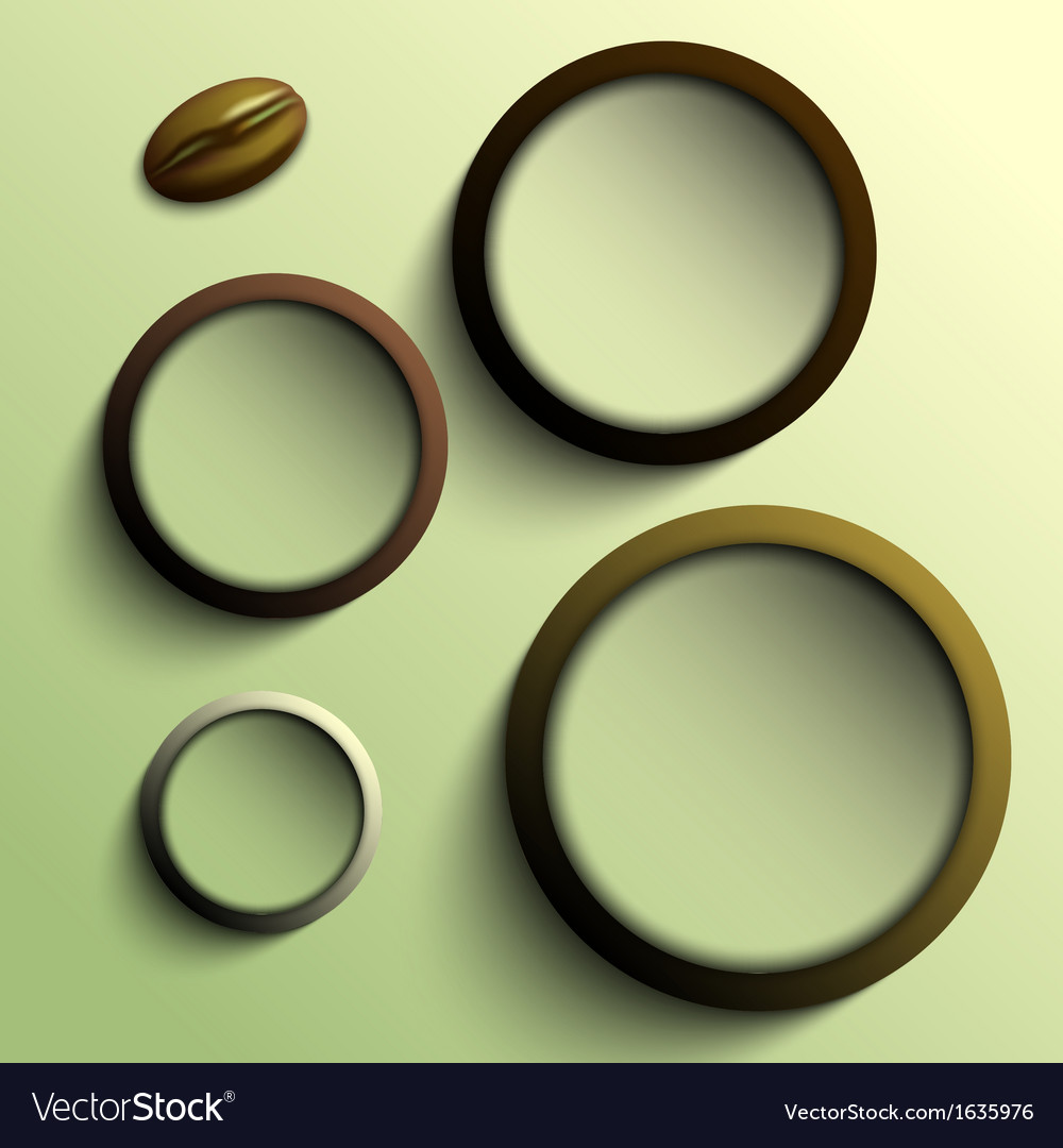 Coffee abstract circles olive theme vector | Price: 1 Credit (USD $1)