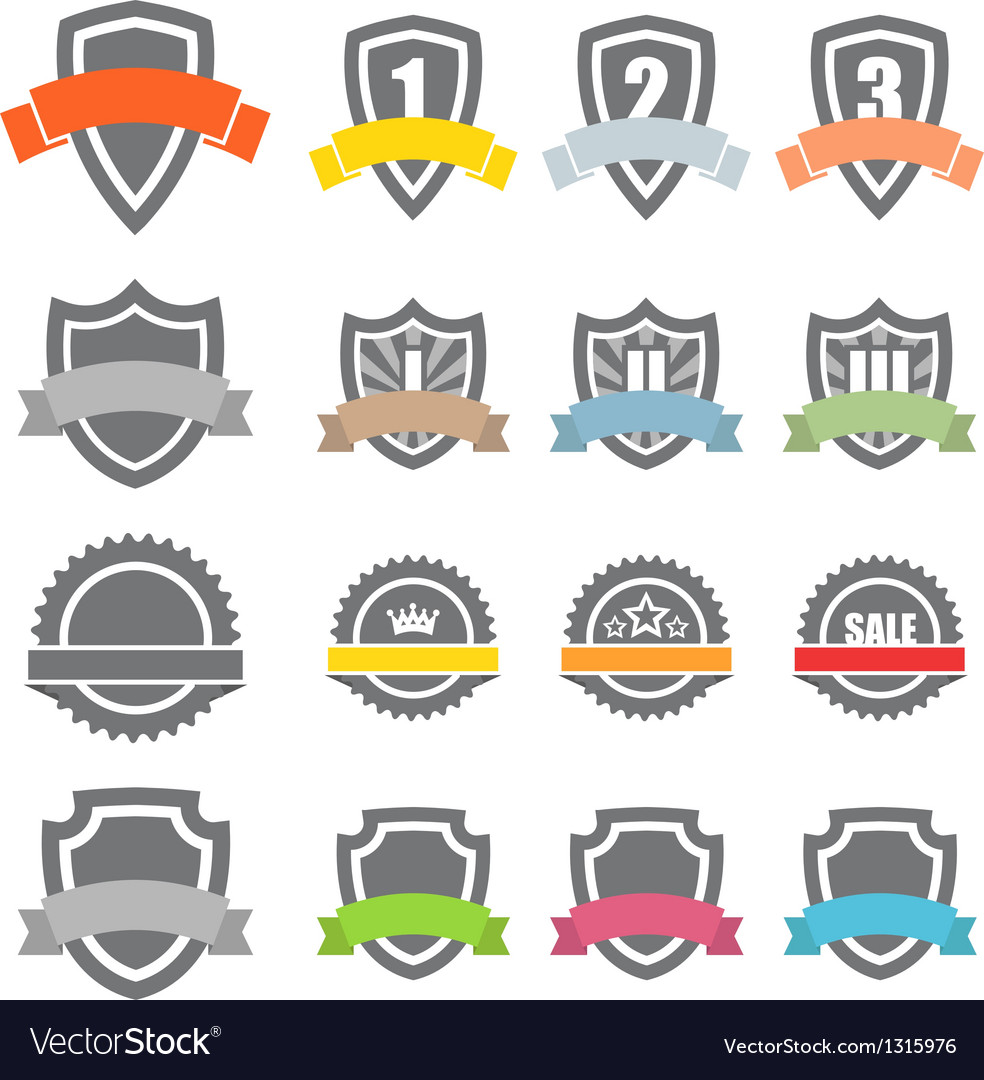 Collection of labels vector | Price: 1 Credit (USD $1)