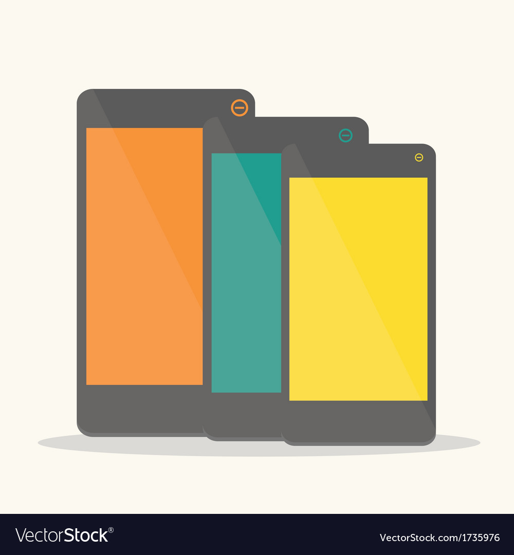 Colorful smartphone vector | Price: 1 Credit (USD $1)