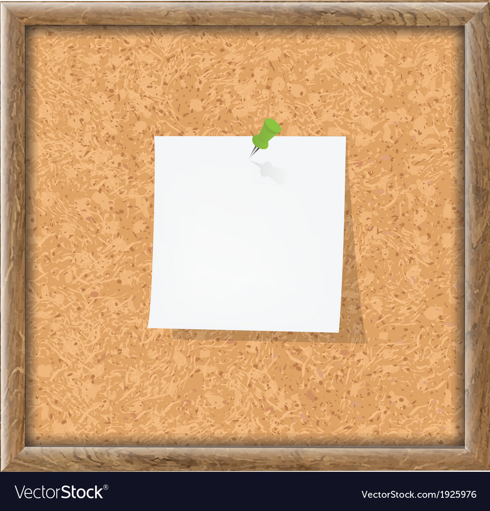 Cork board with blank note paper vector | Price: 1 Credit (USD $1)