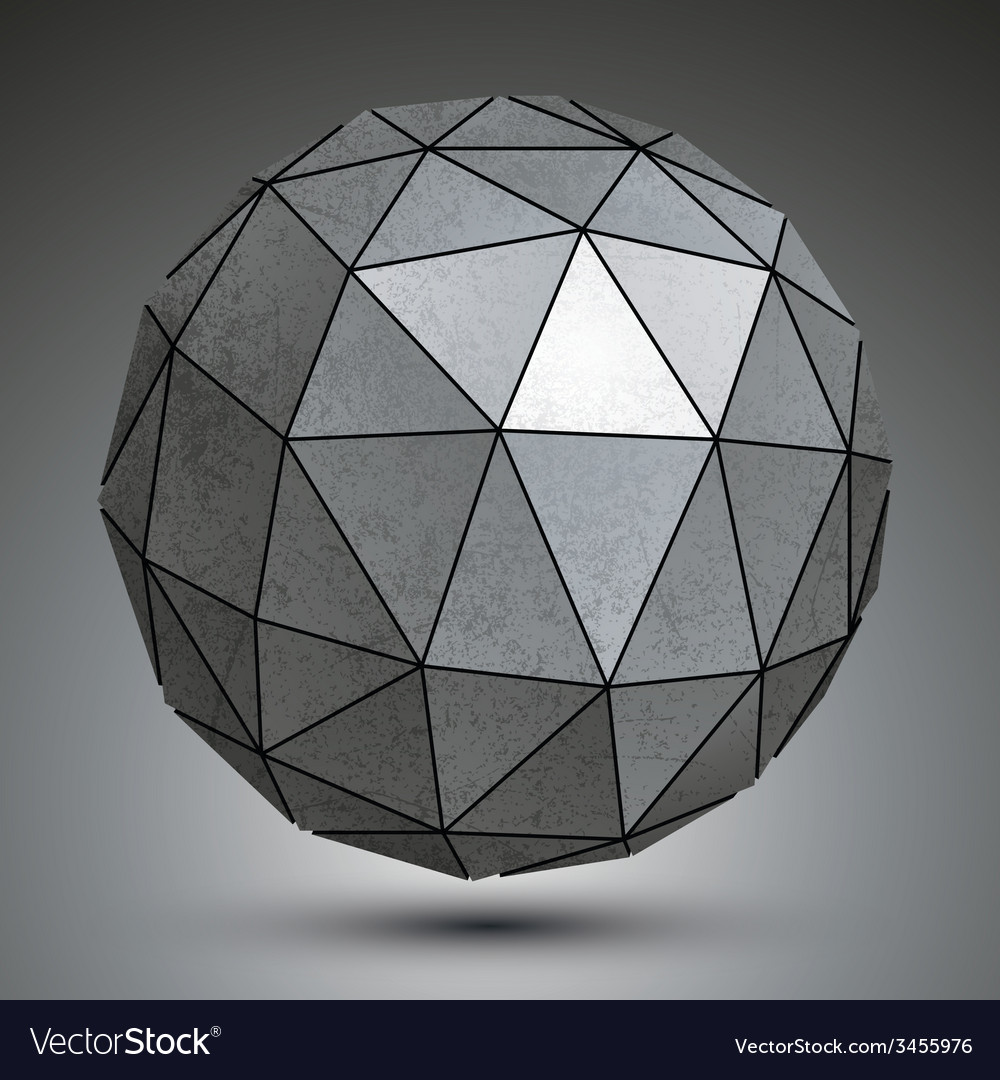 Galvanized dimensional sphere metal perspective vector | Price: 1 Credit (USD $1)