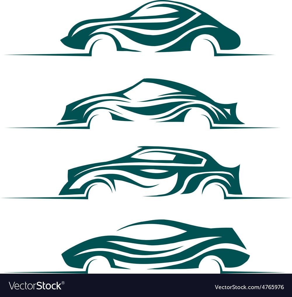 Modern cars design elements vector
