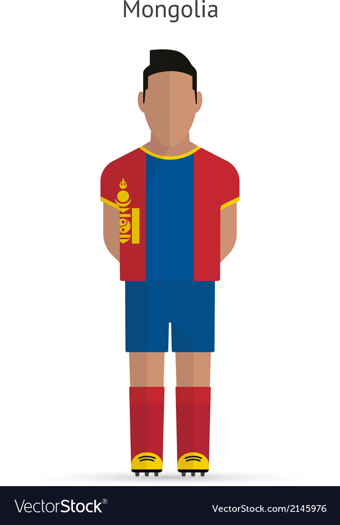 Mongolia football player soccer uniform vector | Price: 1 Credit (USD $1)