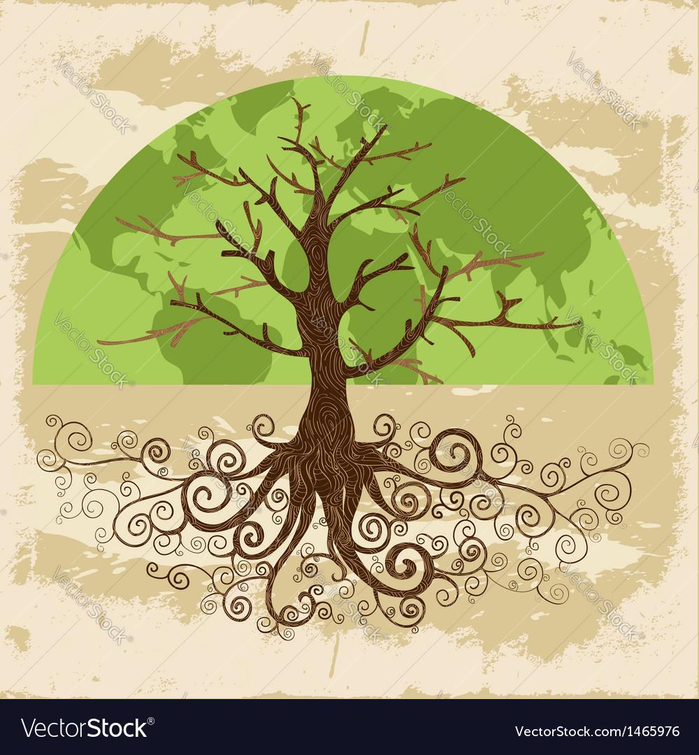 Tree world concept vector | Price: 1 Credit (USD $1)