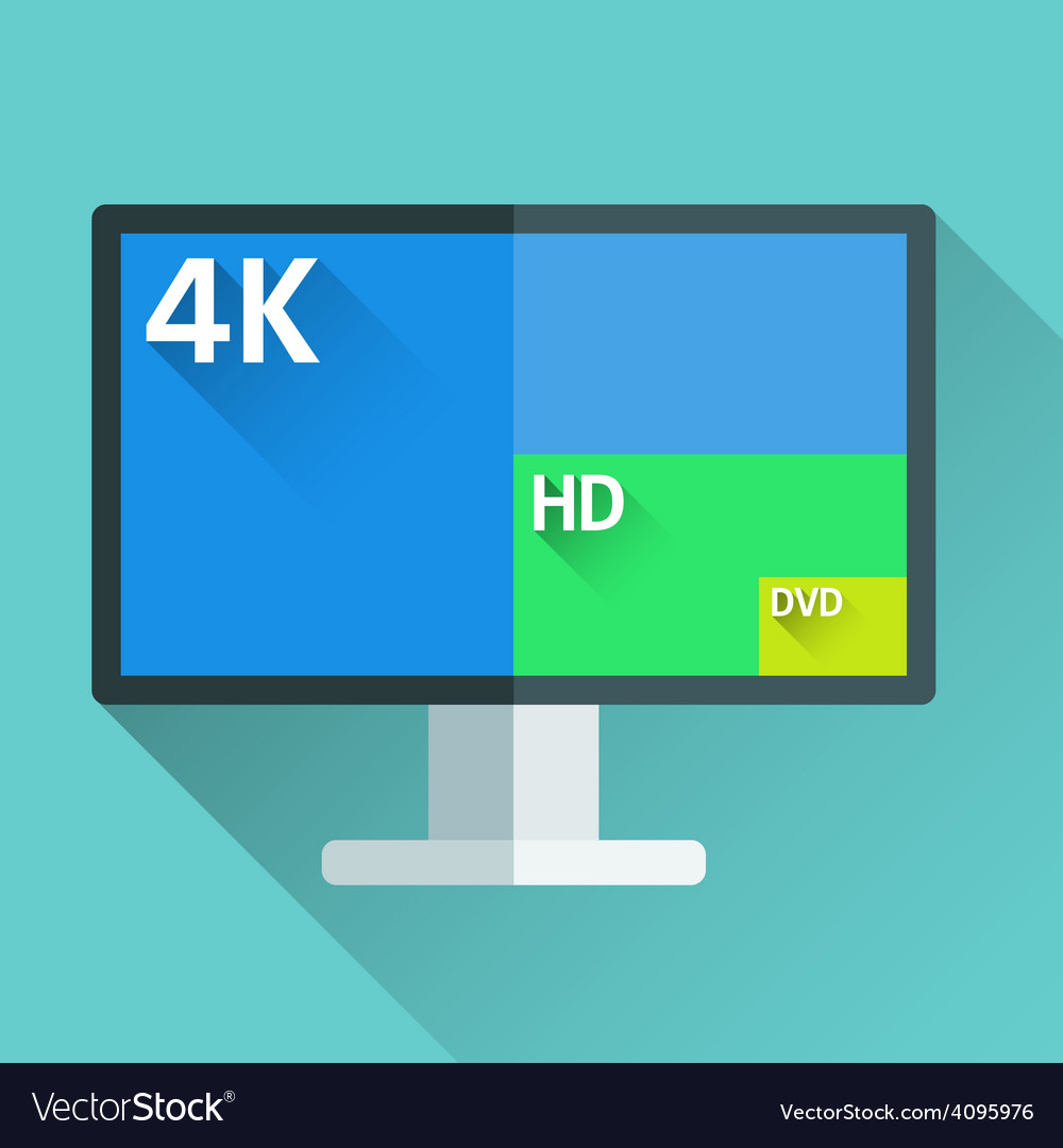 Tv resolutions vector | Price: 1 Credit (USD $1)