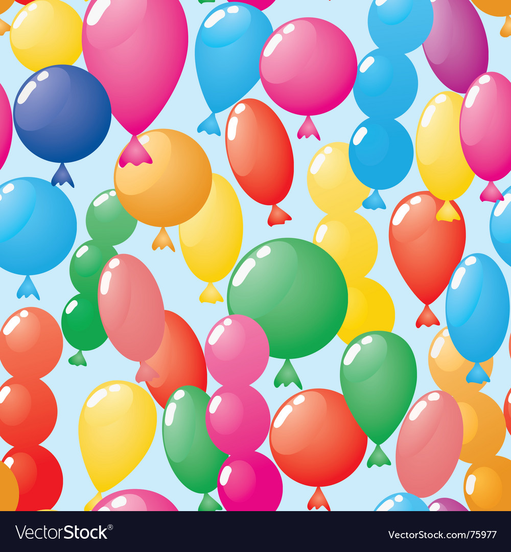 Abstract balloons background seamless vector | Price: 1 Credit (USD $1)