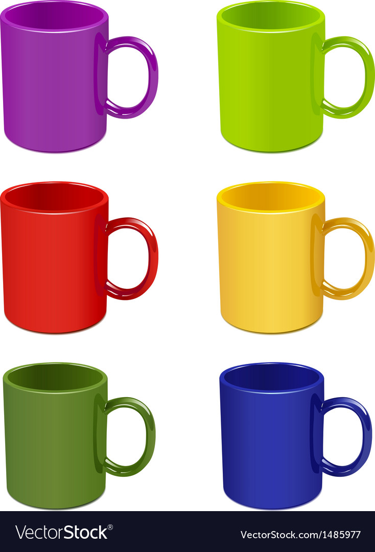 Colored cups vector | Price: 1 Credit (USD $1)