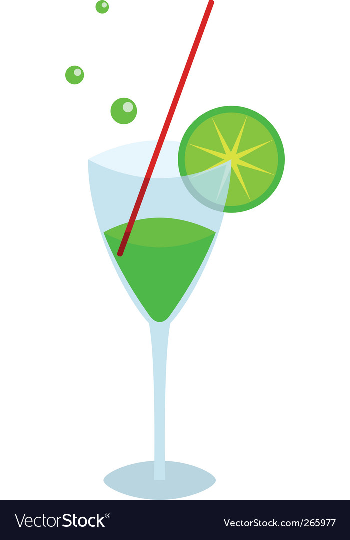 Glass with an green drink vector | Price: 1 Credit (USD $1)