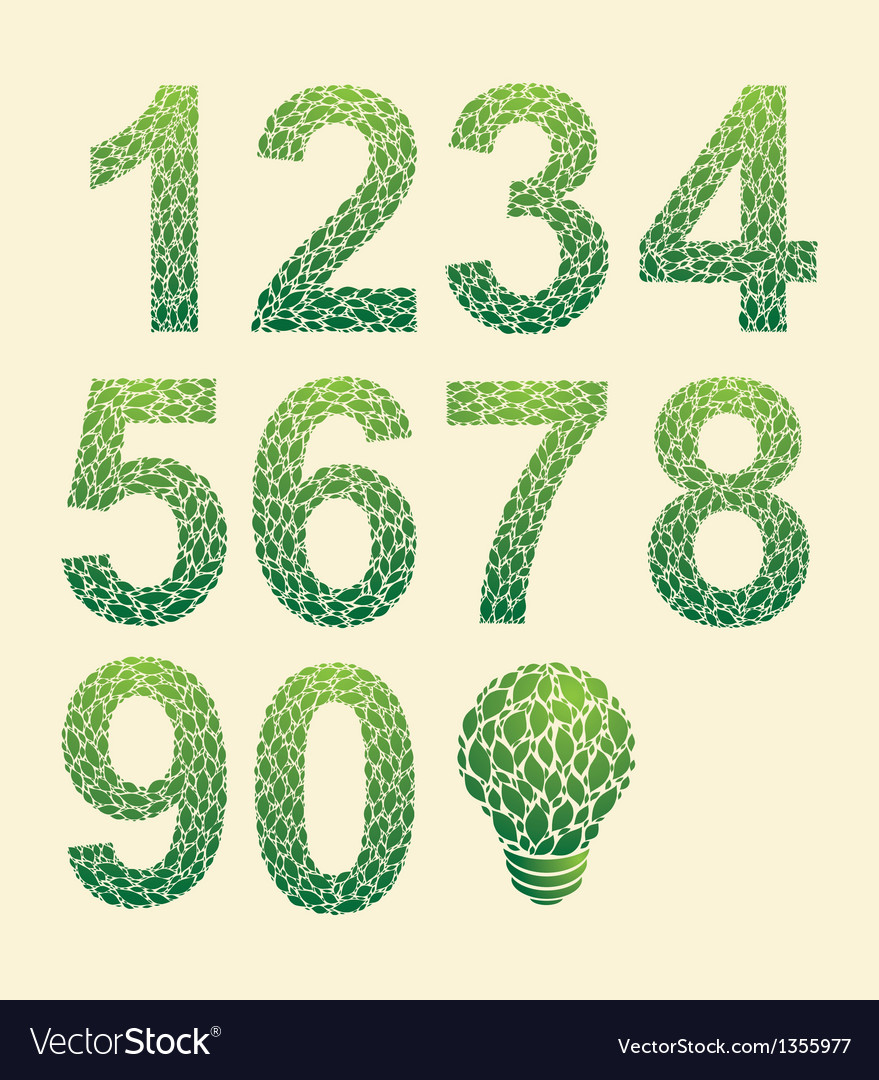 Leaf number vector | Price: 1 Credit (USD $1)
