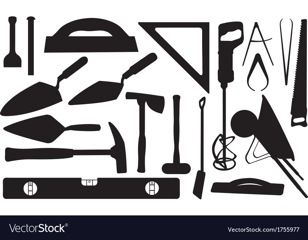 Masonry tools vector | Price: 1 Credit (USD $1)