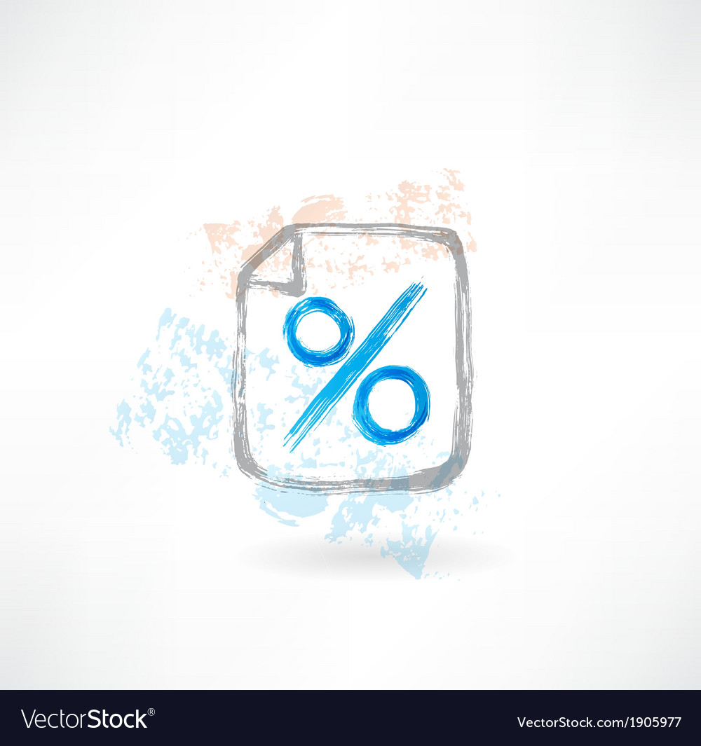 Percentage grunge icon vector | Price: 1 Credit (USD $1)