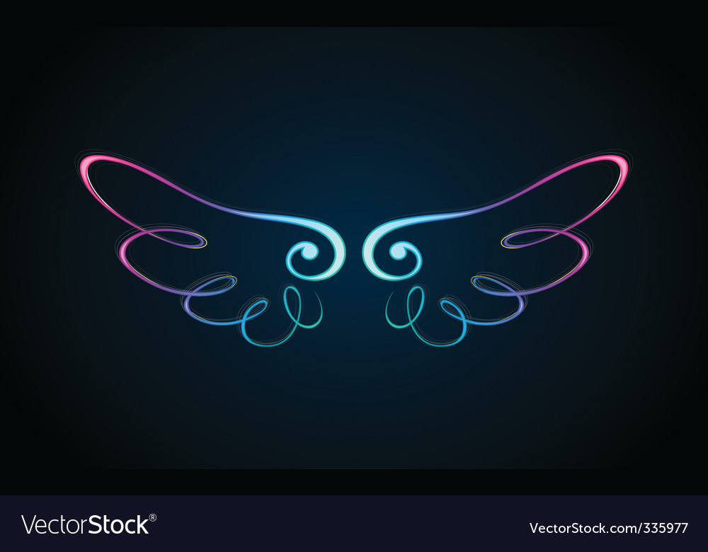 Shining wing vector | Price: 3 Credit (USD $3)