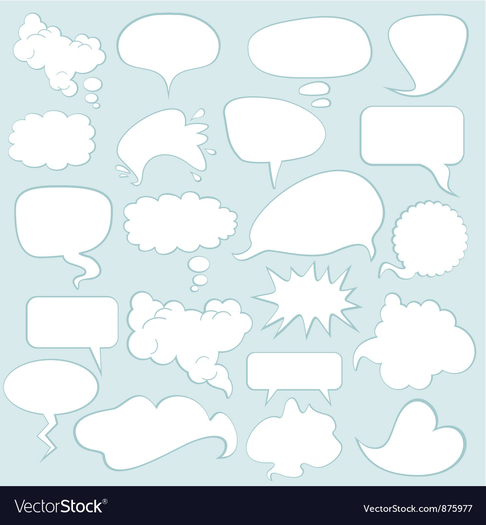 Speech balloons vector | Price: 1 Credit (USD $1)