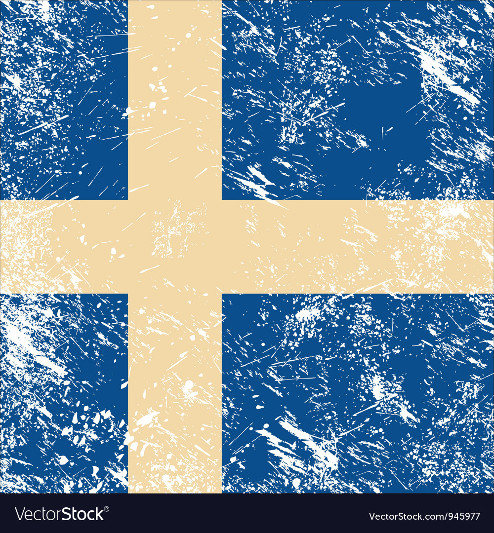Sweden retro flag vector | Price: 1 Credit (USD $1)