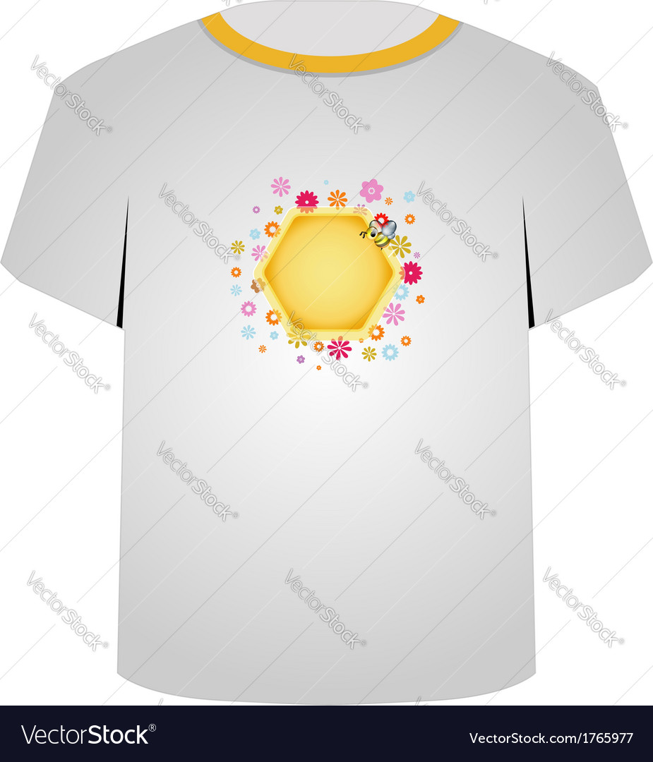 T shirt template- cute honeybee vector | Price: 1 Credit (USD $1)