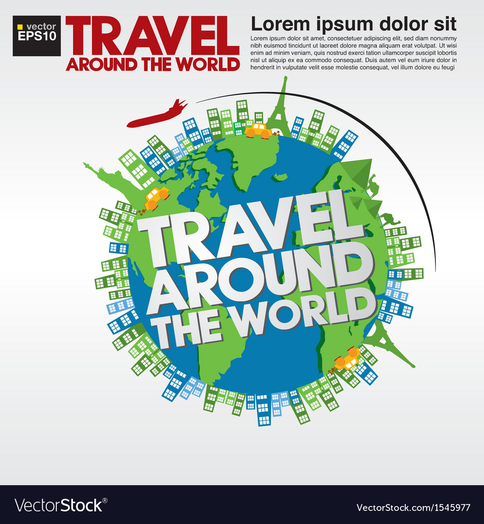 Travel around the world conceptual ve vector | Price: 1 Credit (USD $1)