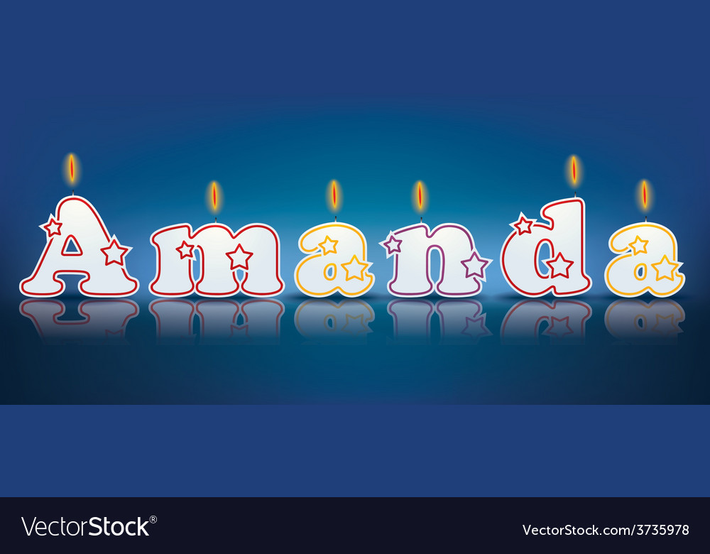 Amanda written with burning candles vector | Price: 1 Credit (USD $1)