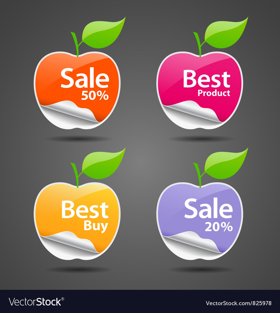Apple sale price tag vector | Price: 1 Credit (USD $1)