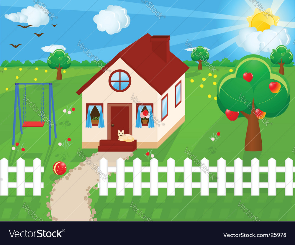 Country house vector | Price: 3 Credit (USD $3)