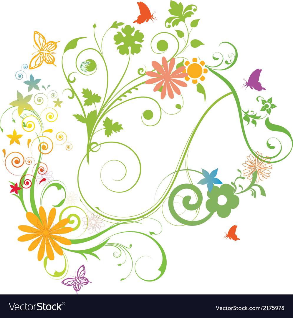 Florals vector | Price: 1 Credit (USD $1)
