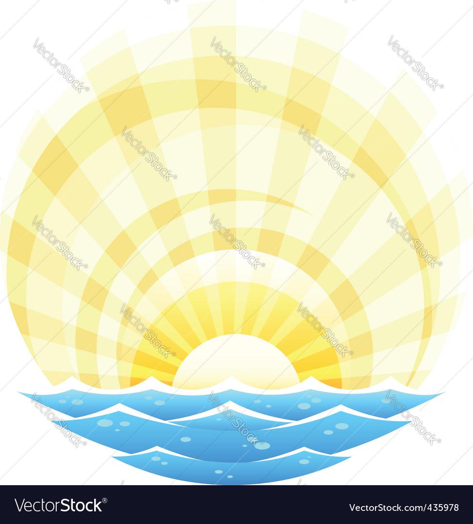 Landscape with sea vector | Price: 1 Credit (USD $1)