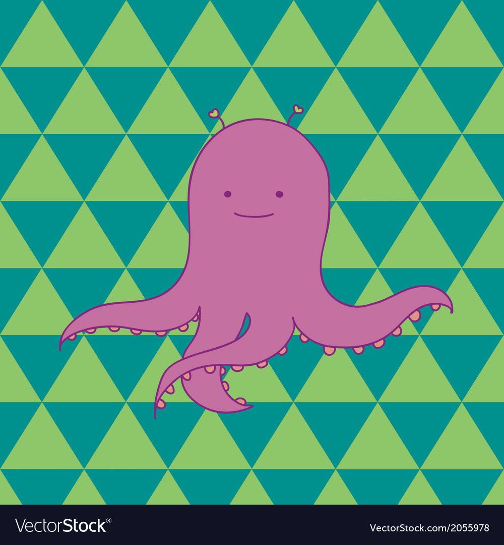 Pink octopus vector | Price: 1 Credit (USD $1)