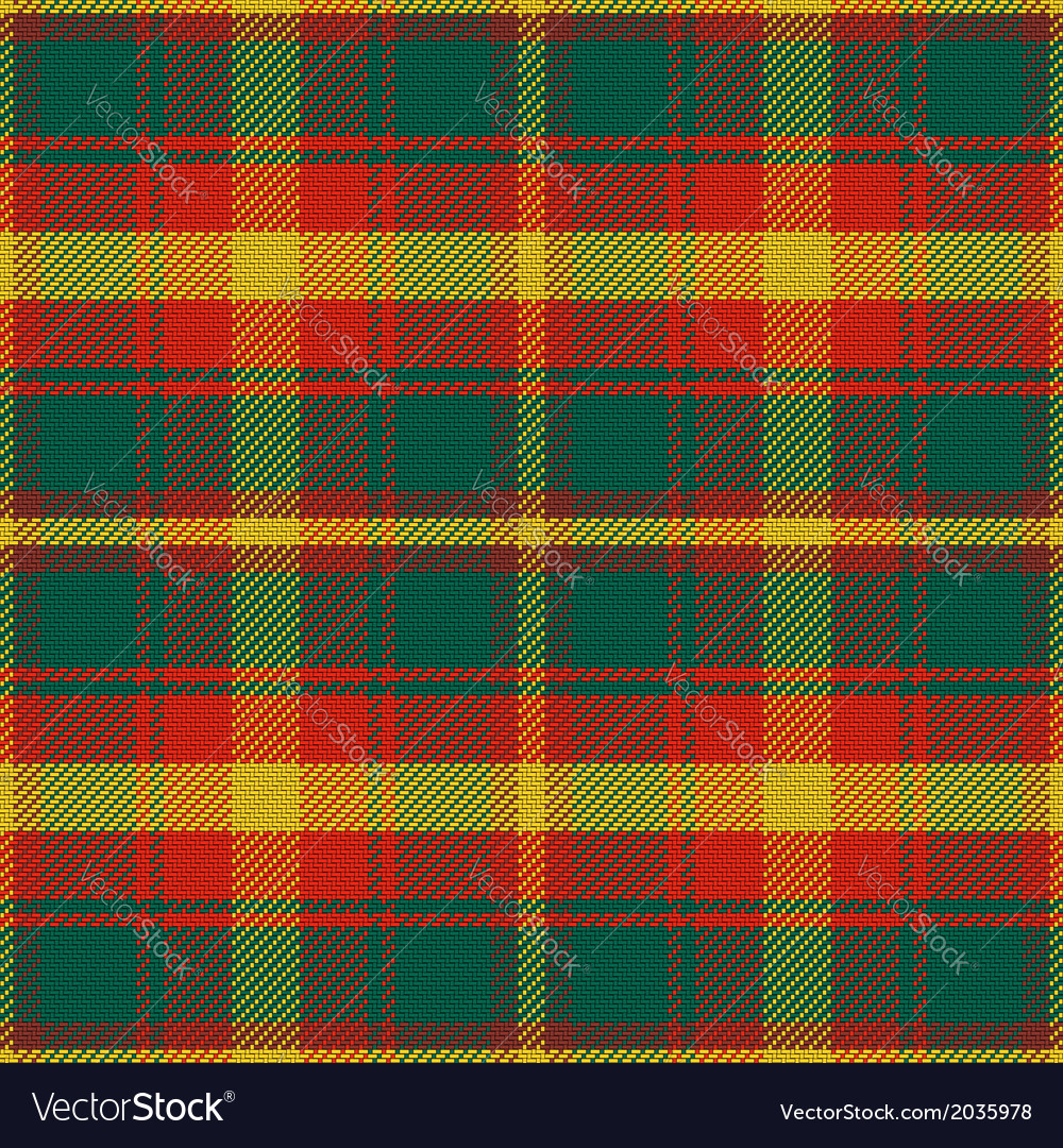 Seamless pattern maple leaf canadian tartan vector | Price: 1 Credit (USD $1)