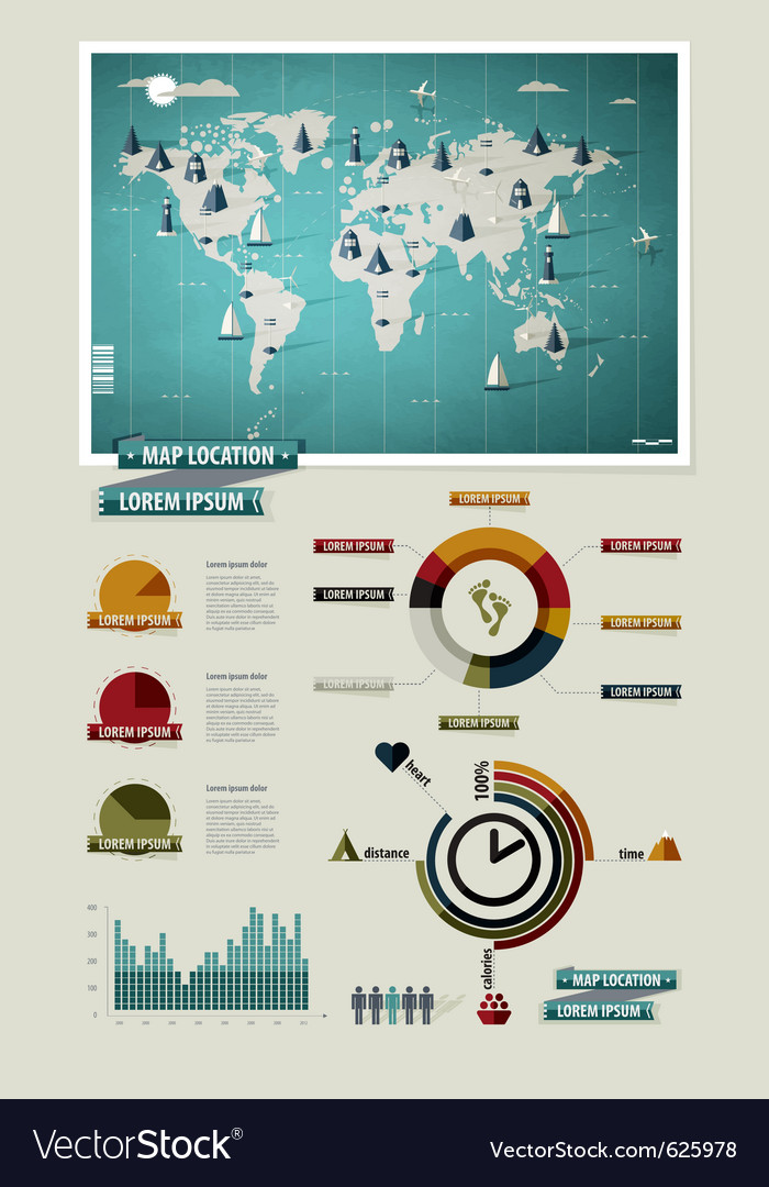 Set elements of infographics vector | Price: 3 Credit (USD $3)