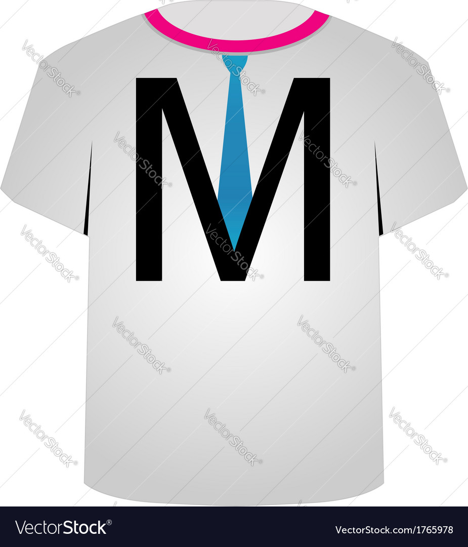 T shirt template- letter m vector | Price: 1 Credit (USD $1)