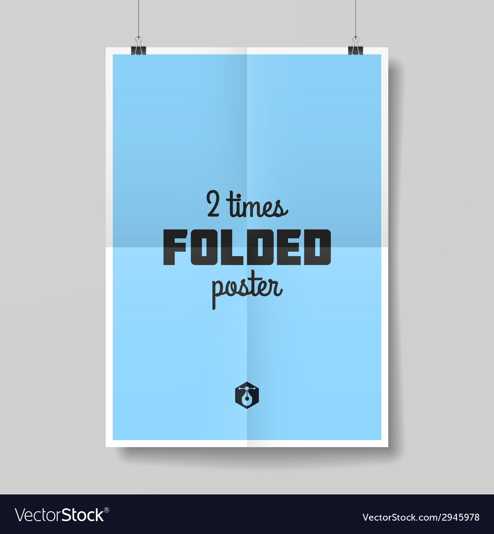 Two times folded poster vector | Price: 1 Credit (USD $1)