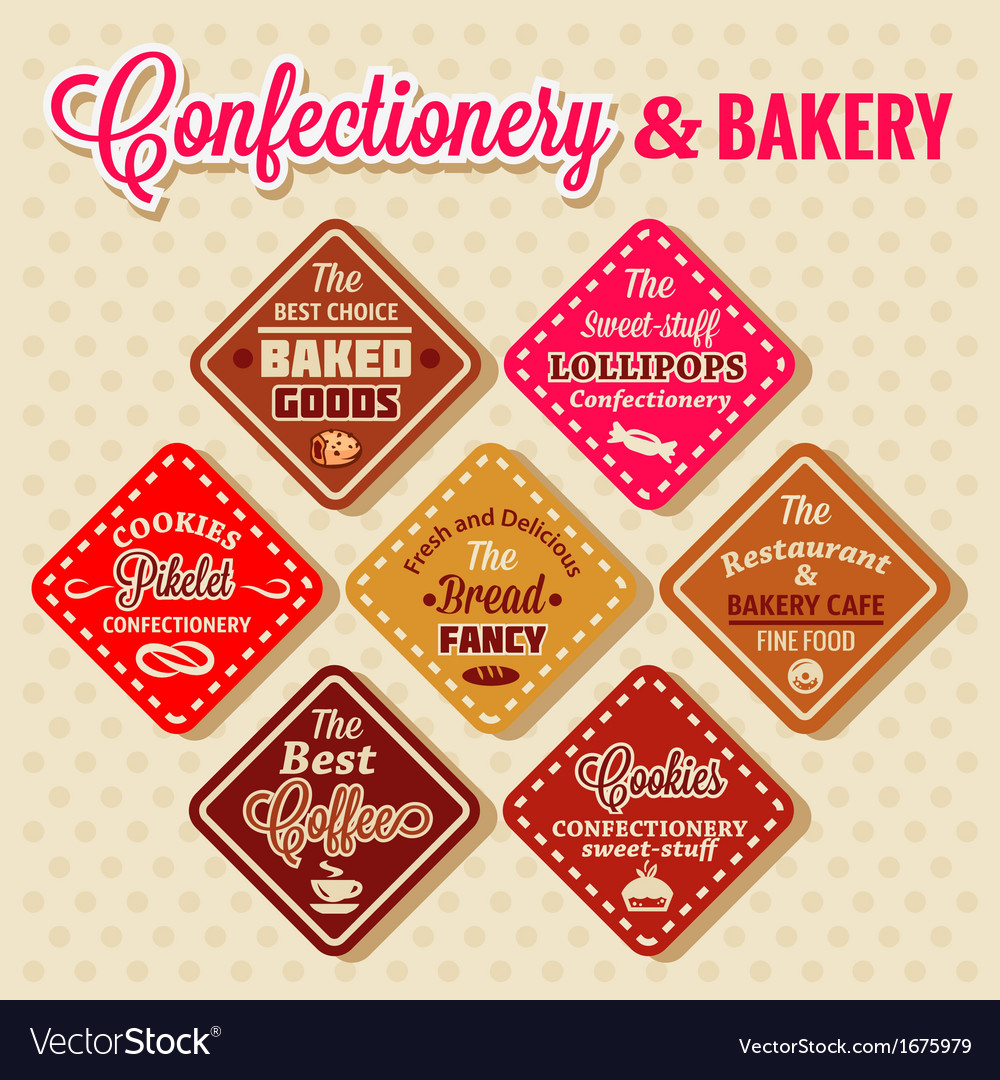 Bakery design elements vector | Price: 1 Credit (USD $1)