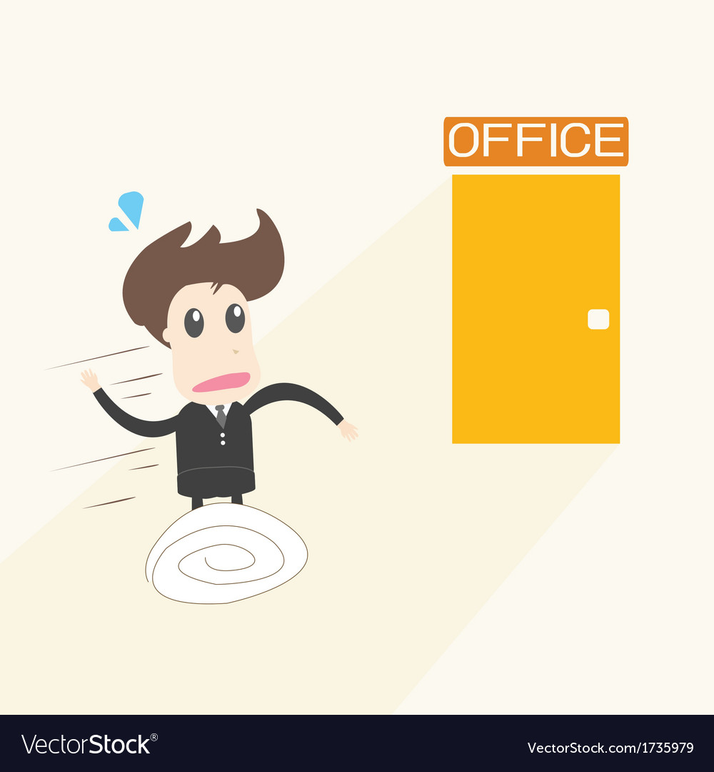Businessman in rush vector | Price: 1 Credit (USD $1)