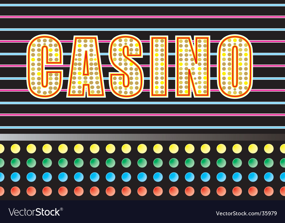 Casino lights vector | Price: 1 Credit (USD $1)