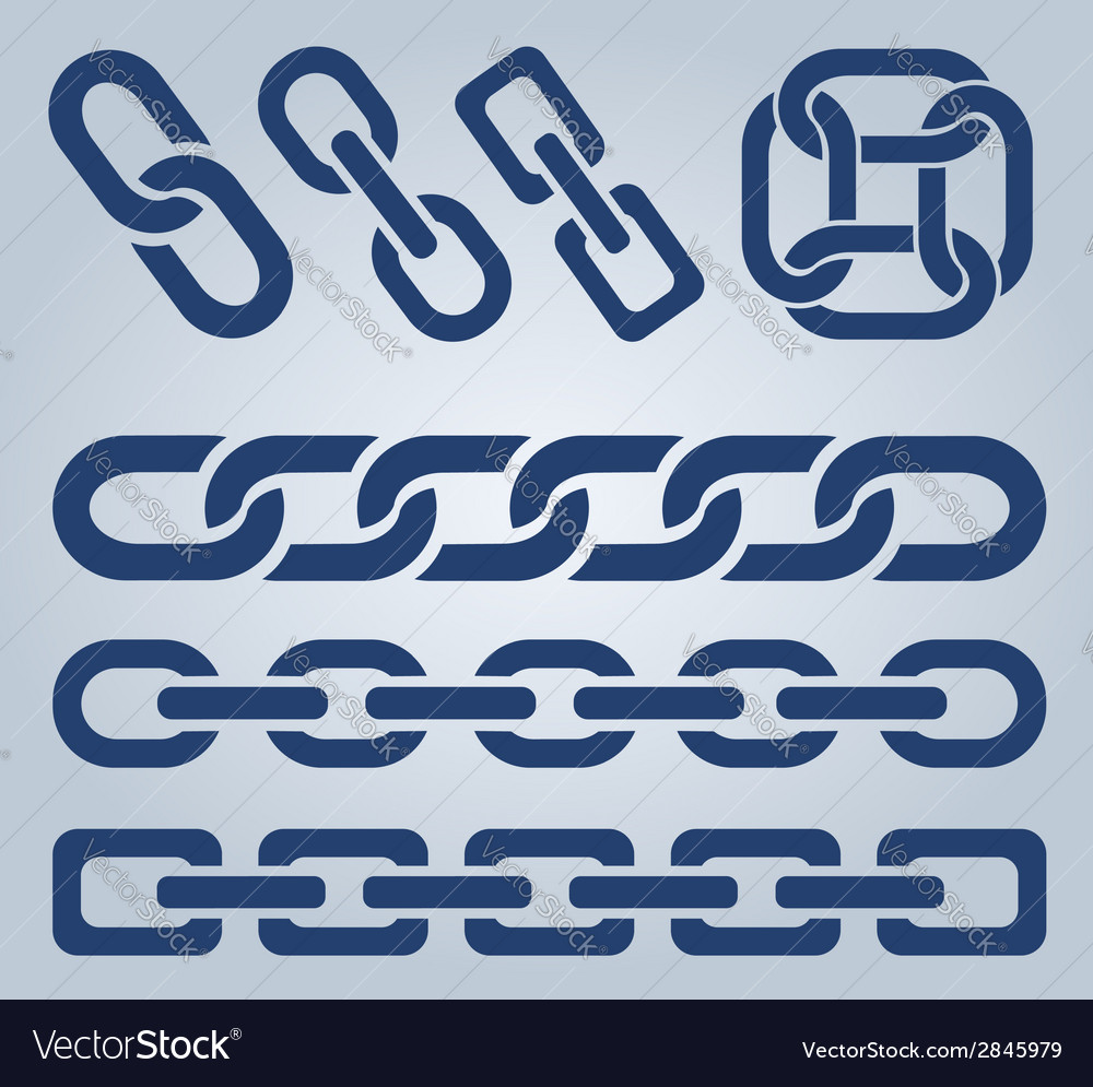 Chain icons vector | Price: 1 Credit (USD $1)