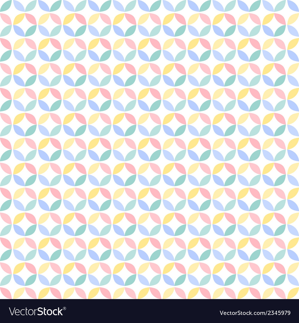 Colorful many geometric circle seamless pattern vector | Price: 1 Credit (USD $1)