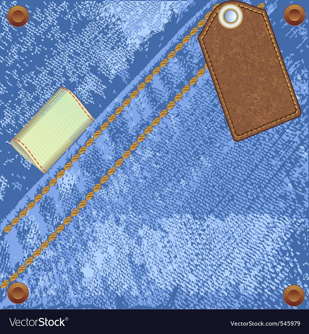 Denim jeans label vector | Price: 1 Credit (USD $1)