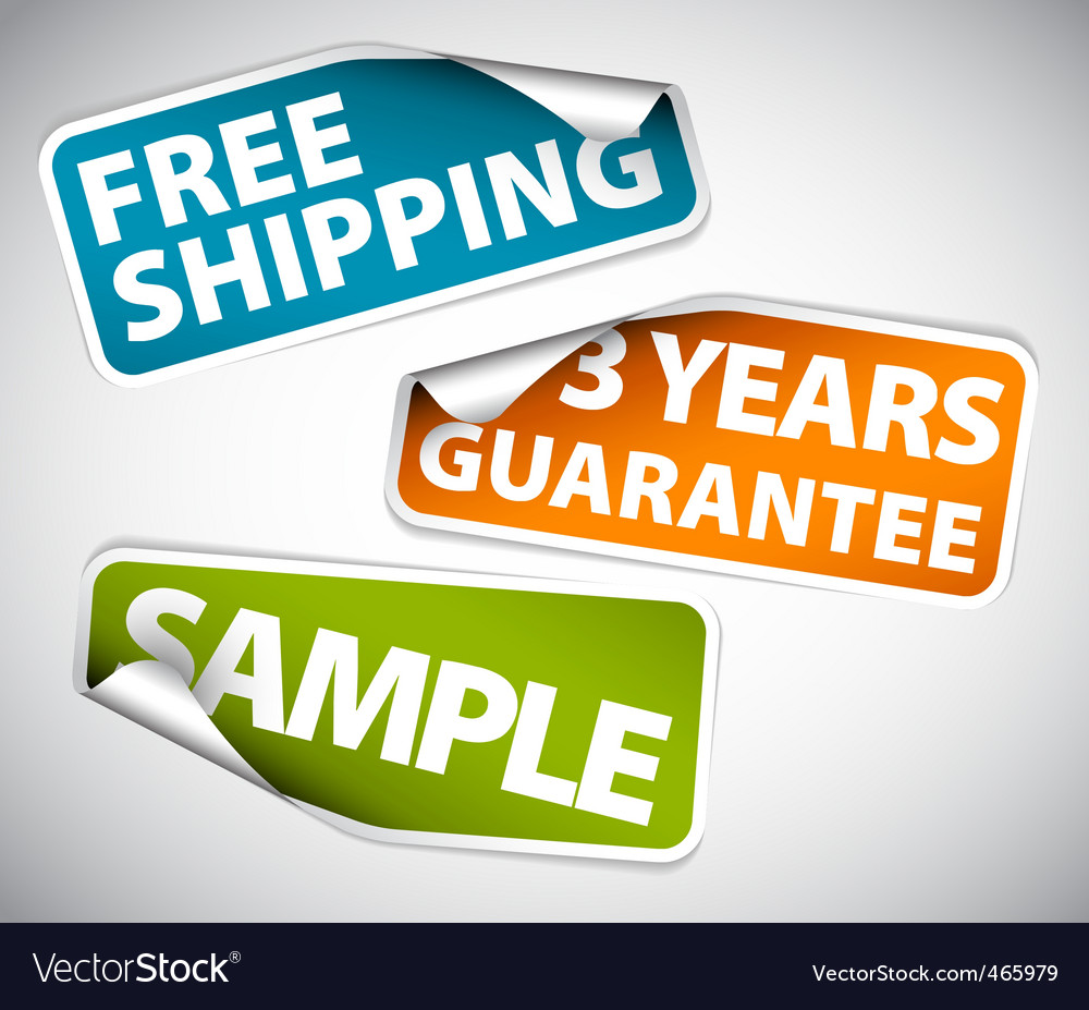Guarantee labels vector | Price: 1 Credit (USD $1)
