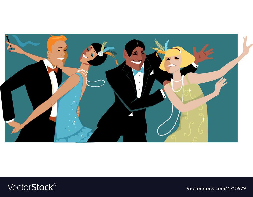 Roaring 1920s party vector | Price: 1 Credit (USD $1)
